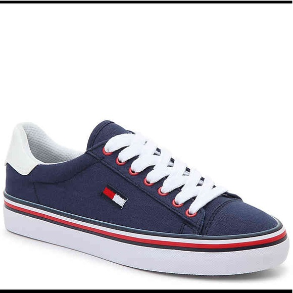 f0548f21b Tommy Hilfiger Shoes | Navy Blue Sneakers Size 8 Nwt | Poshmark